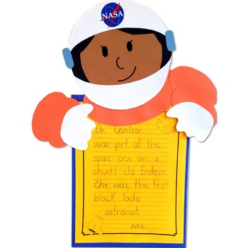 Dr. Mae Jemison craft and reading activity (Black History; Astronauts; Space)