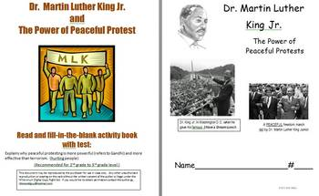 Dr. Martin L. King Jr., Peaceful Protests & Quotes