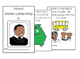 Dr Martin Luther King English Coloring Reading 8 pg booklet