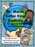 Martin Luther King Speech Craft and Writing Activity