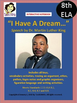 """Dr. Martin Luther King """"I have a Dream..."""" Interactive Notebook Activities"""