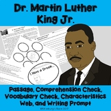 Martin Luther King Jr. Activities - Printables - Reading Passage - MLK