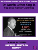 Dr. Martin Luther King Jr. Activities 4 Upper Elementary