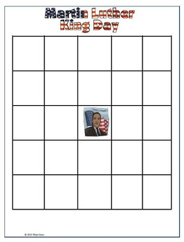 Martin Luther King Jr Bingo Game
