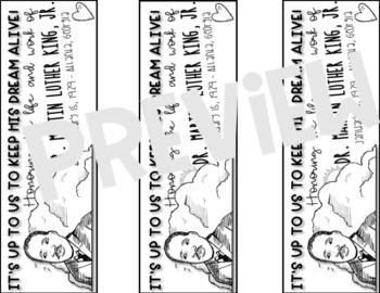 Dr. Martin Luther King Jr. Bookmarks