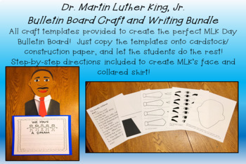 Dr. Martin Luther King Jr. Bulletin Board Set - Craft Writing K 1 2