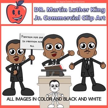 dr martin luther king jr cartoon clipart commercial use black rh teacherspayteachers com free black history month clip art black history month free clipart