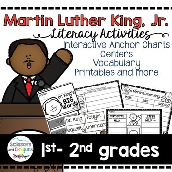 Dr. Martin Luther King Jr. Class Book, Printables, and vocabulary cards