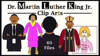 Dr. Martin Luther King Jr. Clip Arts