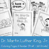 Dr. Martin Luther King, Jr. Coloring Book and Reader for P