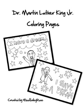 Dr. Martin Luther King Jr. Coloring Pages MLK by ...