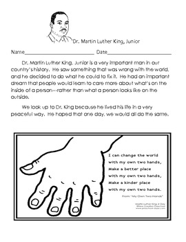 Dr. Martin Luther King, Jr. Creative Teaching Packet