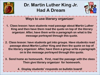 Dr. Martin Luther King Jr.  Had A Dream