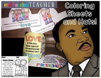 Martin Luther King Jr. Hat and Coloring Sheets