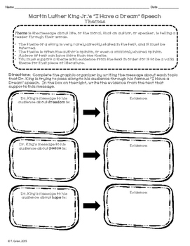 Martin Luther King Jr. I have a Dream Speech Literary Analysis Activities
