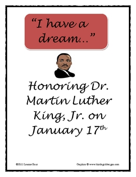 Dr. Martin Luther King, Jr. I have a dream