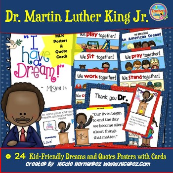 Martin Luther King Posters - Kid-Friendly Dreams and Quotes
