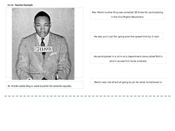 Dr. Martin Luther King Jr. Main Idea