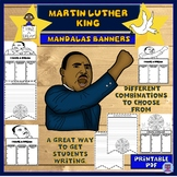 Dr Martin Luther King Jr. Mandalas Banners