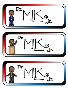 Dr. Martin Luther King, Jr. Mini Fold-Ems, Word Wall, and Writing Templates