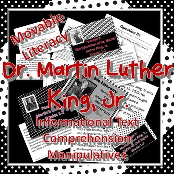 Dr. Martin Luther King, Jr. Movable Literacy Reading Manipulative Pack