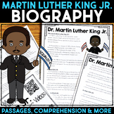 Dr. Martin Luther King Jr. Reading Passage, Biography Report, & Comprehension