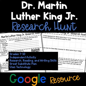 Dr. Martin Luther King Jr. Research Hunt - Google Edition