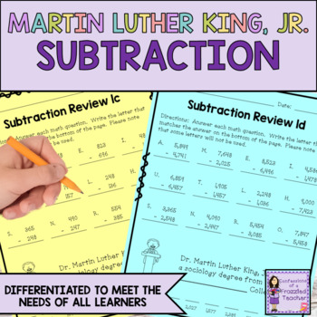 Dr. Martin Luther King, Jr. Subtraction Review Fun