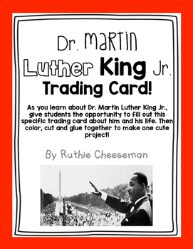Dr. Martin Luther King Jr. Trading Card