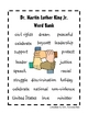 Dr. Martin Luther King Jr. Word Bank FREEBIE!