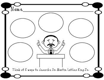 Dr. Martin Luther King Jr. Worksheets
