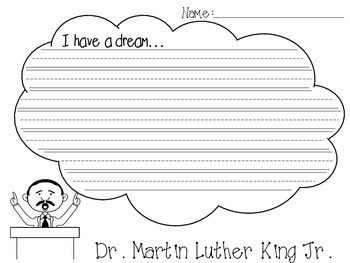 Dr. Martin Luther King Jr. Writing Activity Set -- [1st, 2nd, 3rd, 4th Grade]