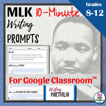 Martin Luther King Jr. Writing Activity & MLK Day Bulletin Board for Google