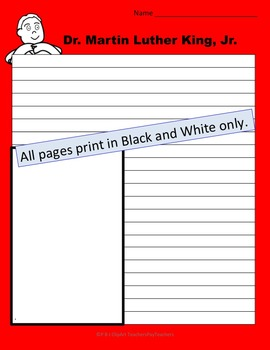 Dr. Martin Luther King, Jr. Writing Pages
