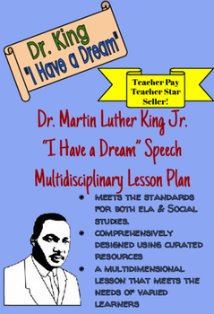 "Martin Luther King MLK Day ""I HAVE A DREAM"" Lesson Plan Bu"