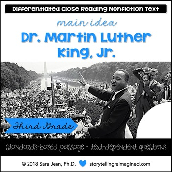 Martin Luther King Jr. • Reading Comprehension Passages & Questions • RL I & II