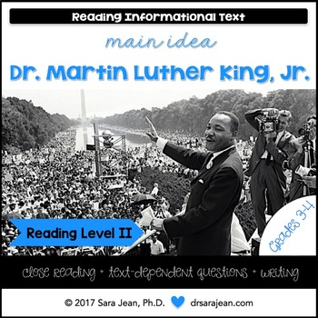Martin Luther King Jr. • Reading Comprehension Passages and Questions • RL II
