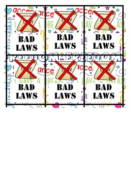 Sight Words Dr. Martin Luther King-Word Work Bad Laws