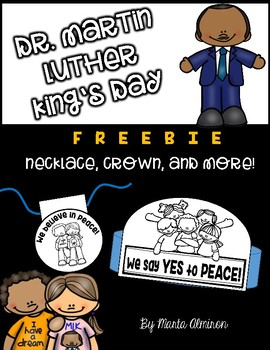 Dr. Martin Luther King necklace and writing pages FREEBIE #kindnessnation
