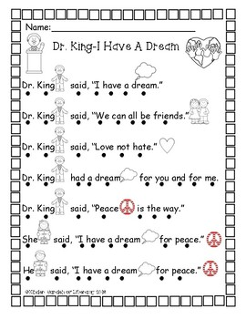 Dr. Martin Luther King-read with dots