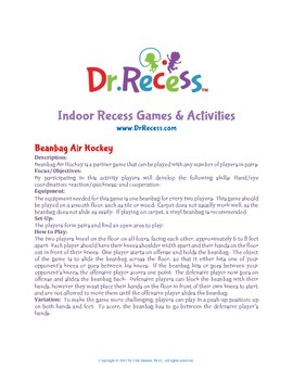 Dr. Recess Indoor Recess Games & Actvities