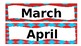 Dr. S Inspired Calendar Months