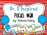 Dr. S Inspired Focus Wall (Objectives)