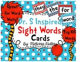 Dr. S Inspired Word Wall Cards