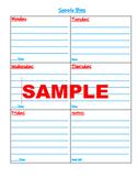 Dr S Weekly Supply Bin Organization Checklist