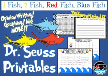 One Fish Two Fish Red Fish Blue Fish Worksheets Teaching