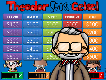 Theodor Seuss Geisel - Jeopardy Style Game Show