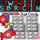 Dr. Seuss inspired Two Digit Subtraction Task Cards