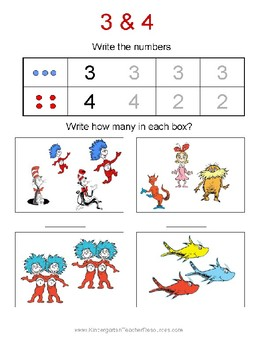 Dr. Seuss 20 Page Activity Packet