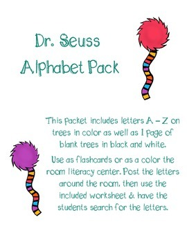 Whimsy Tree Alphabet Pack & Color the Room